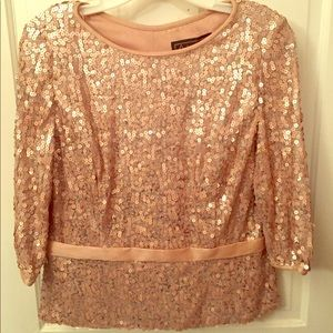 Glamorous beaded top with zipper